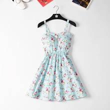 Marwin 2019 новое платье с открытыми плечами с оборками в горошек летнее платье для женщин с белыми бретельками шифоновое пляжное платье в богем...(China)