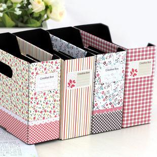 Rustic Style Document Trays Storage Box Fashion Small Desktop Finishing Box(China (Mainland))