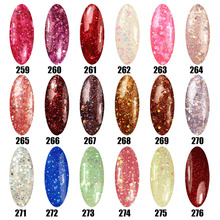 Gel Len 3D Gel nail polish soak off uv/led Glitter nail lacquer for nail art 300 fashion colors are available Hot gel varnish