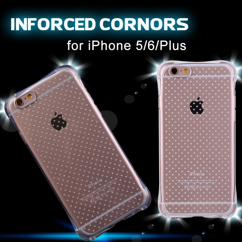 2016 New Popular Dropproof TPU Clear Cover Transparent Shockproof Soft Case for iPhone 5s 6 6s Plus iPhone Case capinhas(China (Mainland))