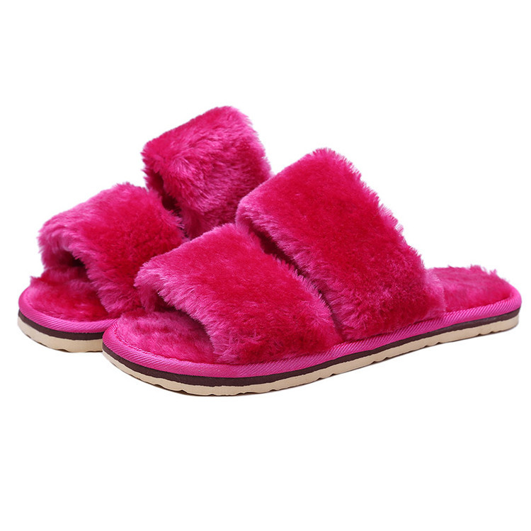 Womens Slippers Indoor House Shoes Soft Plush Home Floor Ladies Flat Fur Slippers Purple Pantufas de Pelucia Adulto Badslippers(China (Mainland))