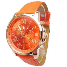 Superior 2015 Women Stylish Geneva Numerals Faux Leather Analog Quartz Wrist Watch May7