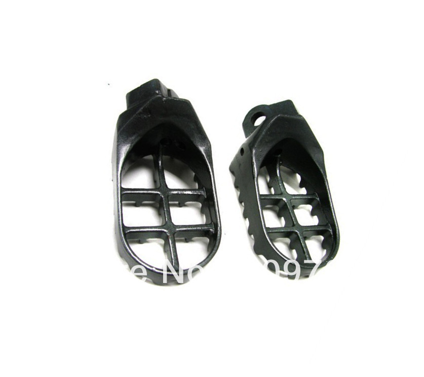 Free Shipping 1 Pair STEEL FOOT PEGS FOOTPEGS for Kawasaki KX125 250 1997-2001 KX500 1988-1990(China (Mainland))