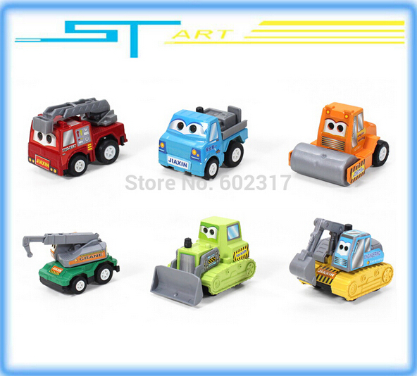6 pcs/set multicolor plastic mini pull back Vehicle car model baby children kids toys gifts for girls boys toy Free shipping(Hong Kong)