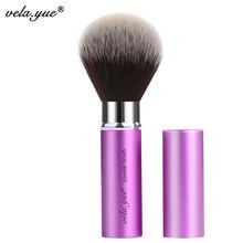 vela.yue Retractable Powder Brush Face Powder Blush Makeup Brushes Beauty Tool(Hong Kong)