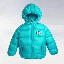 2015 new Hello Kitty Girl s Winter jackets hooded children s Coats winter warm Outerwear Coats