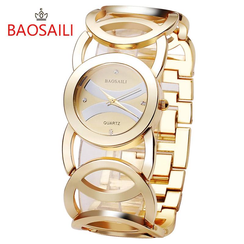 JW089 BAOSAILI 3 Colors Circles Design Strap High Quality Shinning Women Ladies Wrist Watch Brand Dress Watch(China (Mainland))