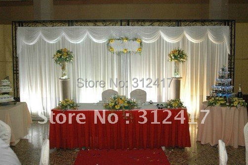 Wholesale and retail 3x6m solid white wedding backdrop for Backdrop decoration for church