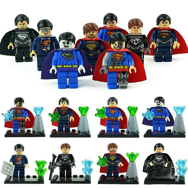 80pcs Baby Toys Super Heroes Star Wars Alliance 8 design superman /Iroman minifigures construction brick block sets,Kids toys(China (Mainland))