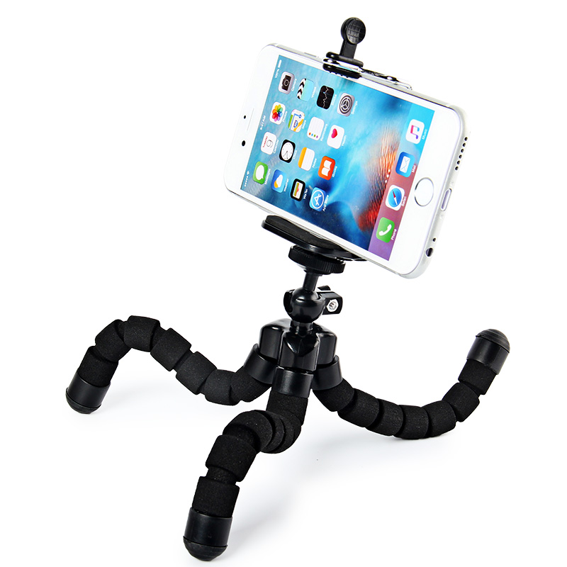 50pcs DHL Octopus Flexible Tripod Stand Mount Holder For Iphone 6 6s plus SE 5s Bicycle Holder Digital Camera Tripod Universal(China (Mainland))