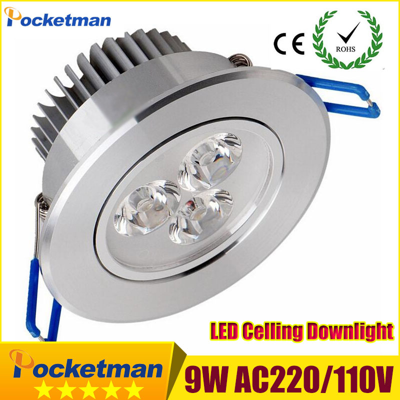 Led Downlights (1pcs/lot) 9w led down light Aluminum material 85-265v celing light For Home Lighting Decoration Free shipping(China (Mainland))