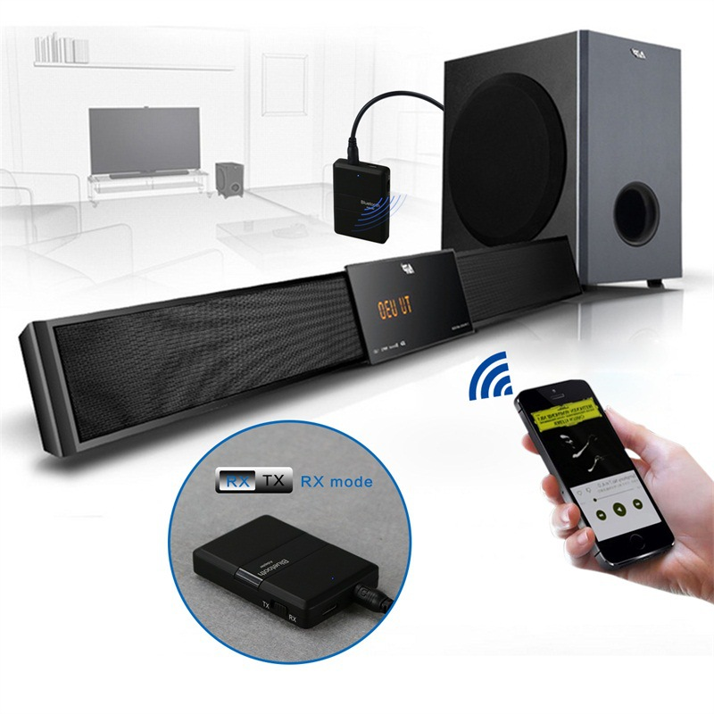 Wireless Bluetooth Car Kits 3.5mm Jack Bluetooth Audio Receiver Transmitter Video Player Handsfreefor Smart Phone Earphone