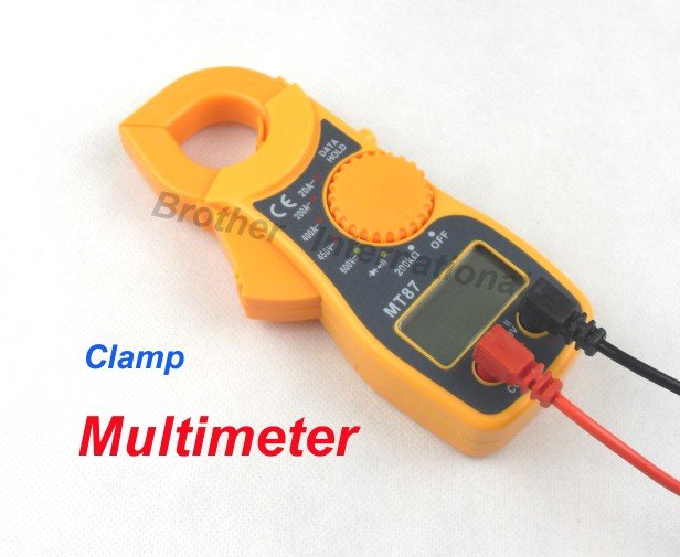 10pcs/lot Free shipping Digital Multimeter Electronic Tester AC/DC Clamp Meter
