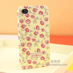 For iphone  4 phone case vintage rustic 4 flower  for apple   mobile phone case iphone 4s mobile phone protective case