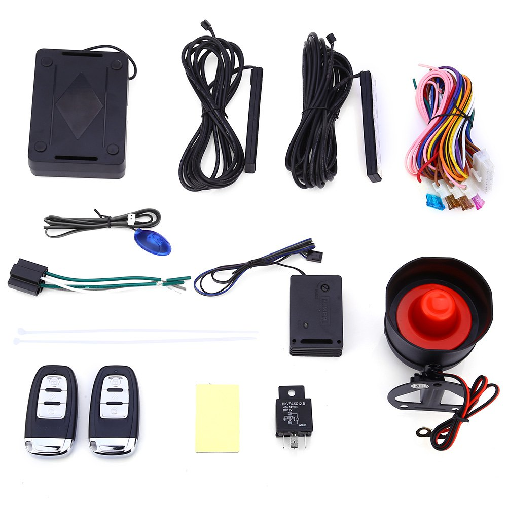Hot Sale Universal Rolling Code PKE Keyless Entry Car Alarm System Auto Lock Unlock Remote Central Kit Remote Trunk Rzelease(China (Mainland))