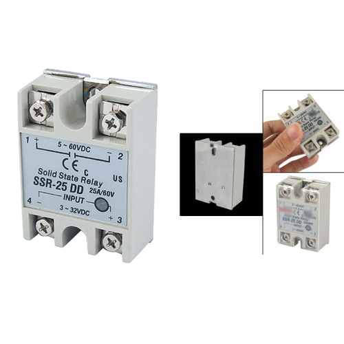 Promotion! New Plastic Metal Solid State Relay SSR DC-DC 25A 3-32VDC/5-60VDC<br><br>Aliexpress