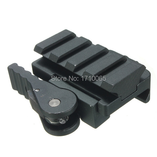 Aluminum Compact Tactical QD Quick Release Mount Adapter 5 Slots Fit 20mm Picatinny Weaver Rail Base