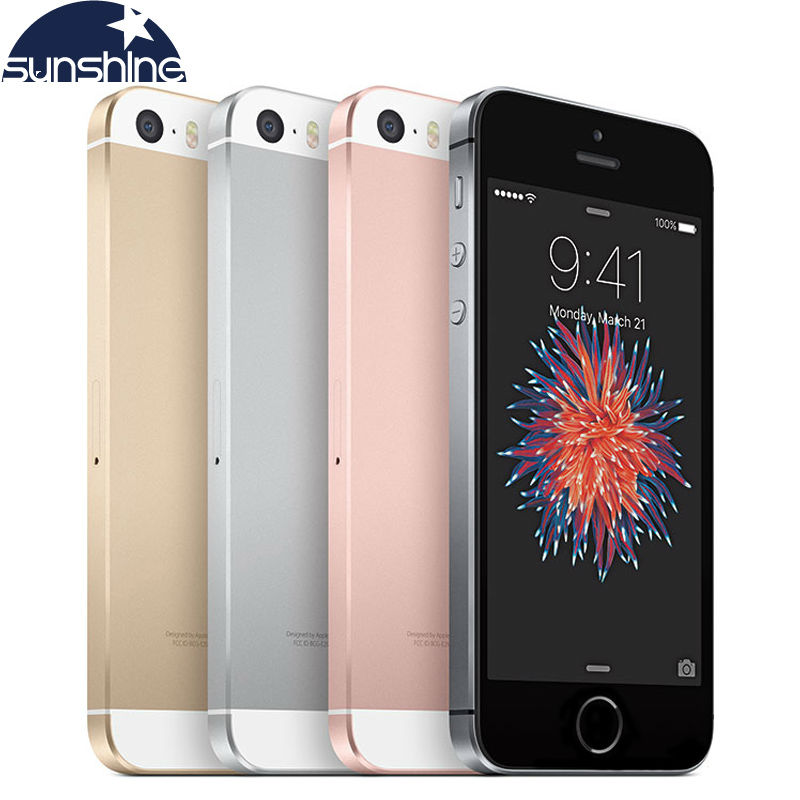 "Original Unlocked Apple iPhone SE Phone 4G LTE Mobile Phone Dual Core 4.0"" 12MP iOS 2G RAM 16/64GB ROM Smartphone(China (Mainland))"