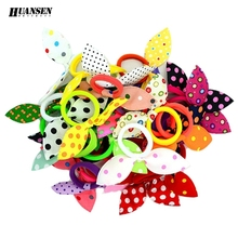 20pcs/lot 2015 gum for  Hair Women/Girls Accessories Scrunchy Elastic Hair Bands Headdress acessorios para cabelo Rabbit ears(China (Mainland))