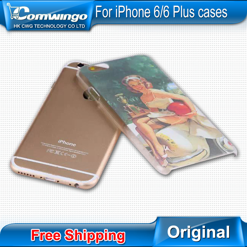 Top Quality Painted Flirty Skin Case Cover for Apple iPhone 6 Retro beauty Skin Case Cover Free Shipping(China (Mainland))