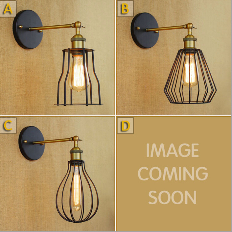 American industrial creative Loft nostalgic style single head contracted new RH decorated corridor wall lamp <br><br>Aliexpress