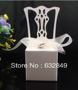 white chair 5Wedding box Candy Box gift wedding bonbonniere baby shower party favor boxes - Yiwu Wedding&Baby Favors store
