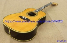 Buy Best Acoustic guitar,vine inaly,natural color finished,rosewood fingeboard,spruce board top.high quality. free shipping! for $565.25 in AliExpress store