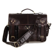 men's shoulder bags Vintage Cowhide leather man bag New laptop leisure men messenger bags business briefcase man large tote(China (Mainland))