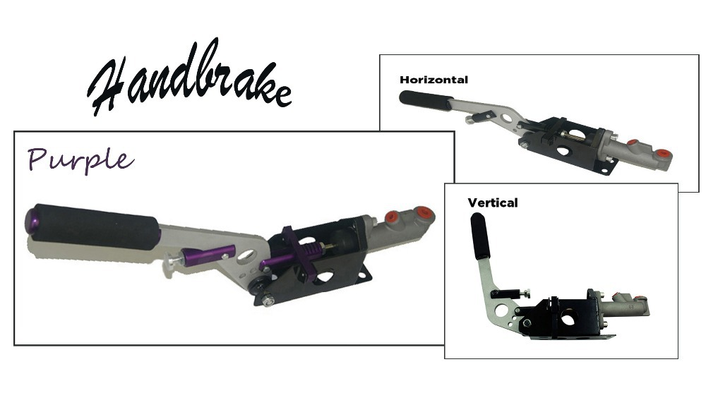 Universal Car Auto Hydraulic Handbrake Vertical & Horizontal 25cm Rally Racing E-Brake Lever Device Master Cylinder Purple - Fast_Furious2015 store