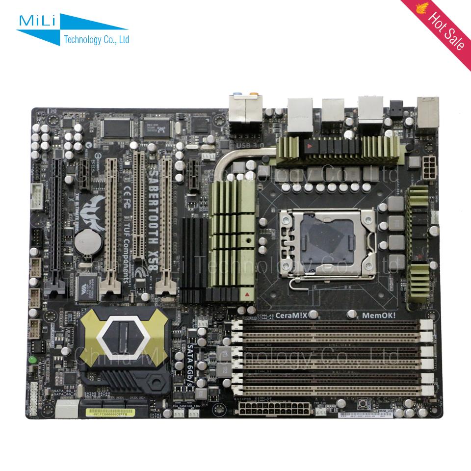 90% new LGA1366 for Asus SaberTooth X58 desktop motherborad ATX USB3.0 SATAIII for X5650 L5639 L5520 CPU<br><br>Aliexpress