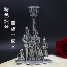 retro romantic candle wedding props simple retro single candle Home Furnishing essential tin silver ornaments(China (Mainland))