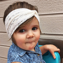 1 PC Baby Girls Top knot Turban Headband Cute Kids Toddler Lace Bow Hair Accessories Elastic Hair Bands Head Wraps Baby Headband