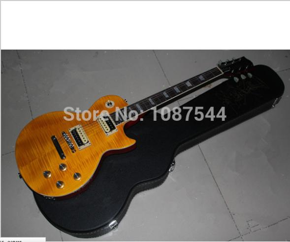 Free Shipping Wholesale Slash guitar Natural yellow burst SLASH signature LP standard electric guitar with case(China (Mainland))