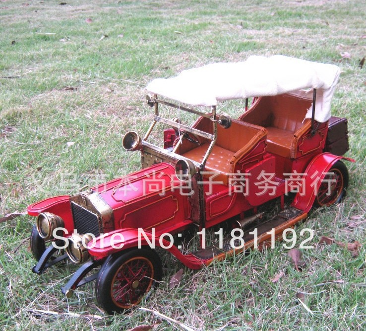 Classic Car Models Home Decoration Handmade retro nostalgia Metal craft Wedding Photography Props Wholesale gifts(China (Mainland))