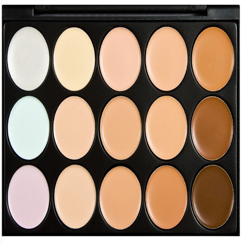 15 color Special Professional 15 Colors Concealer Facial Face Cream Care Camouflage Makeup Palettes Cosmetic for eyeshadow(China (Mainland))