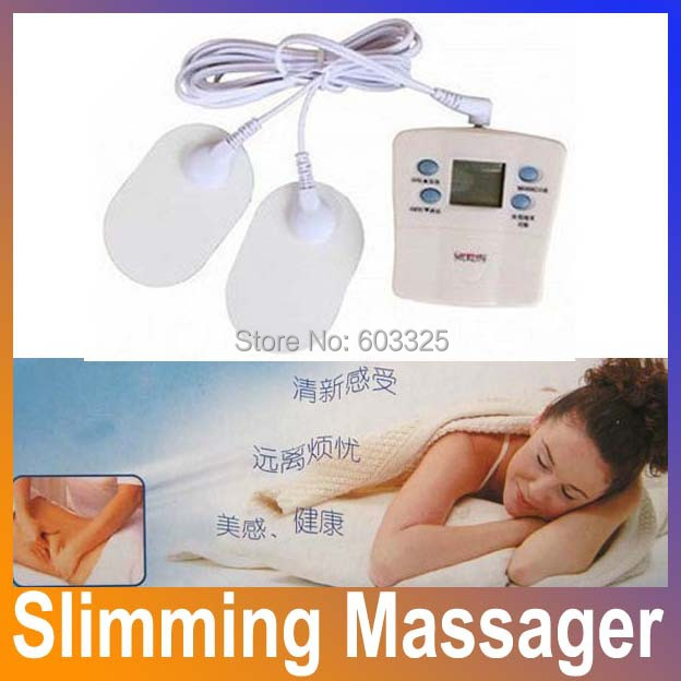 Health Care Mini Electronic Slimming Body Therapy Massage Pulse Muscle Stimulator Weight Loss Relaxation Masseur Device HA1008(China (Mainland))