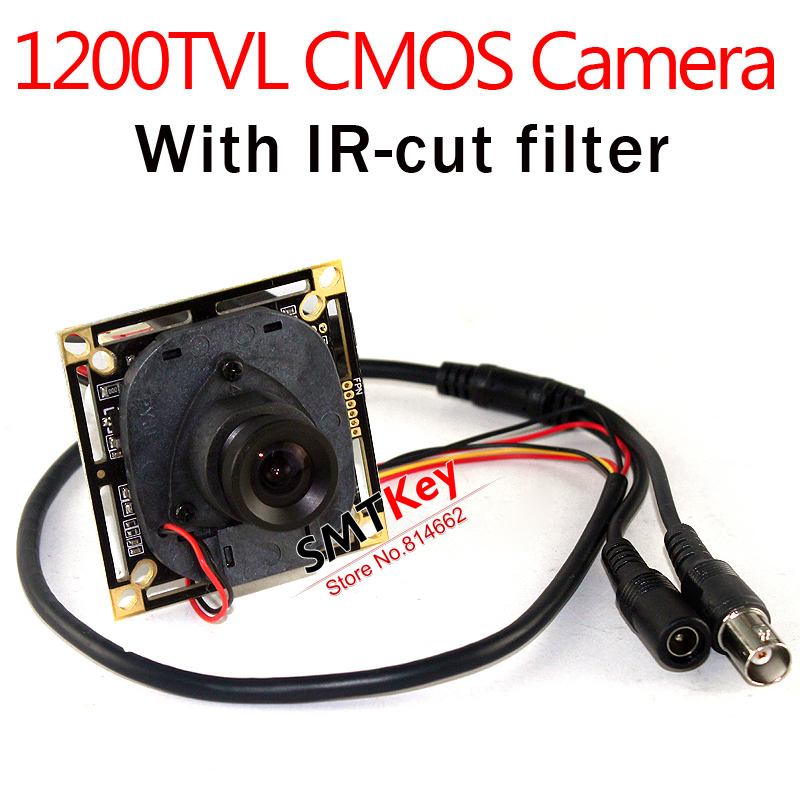 HD 1200TVL CMOS with IR-cut filter CCTV Board camera 3.6mm lens Board CCTV Camera(China (Mainland))