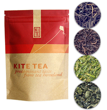 Chinese Breakfast Tea Trial Pack, Whole Leaves Black Tea in Pyramid Tea Bags,16 pieces, by KITE. Black tea form teahomeland