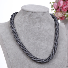 2016 NEW Fashion Design Girl Jewelry Handmade Stardust Crystal Rhinestone Necklaces Free Shipping