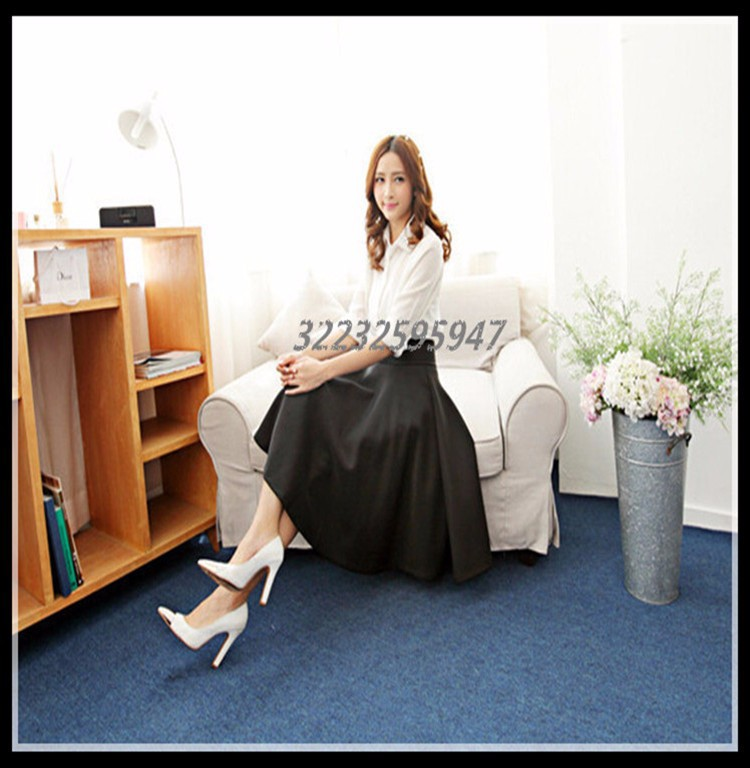 In The Autumn And Winter Grown Place Umbrella Skirt Retro Waisted Body Skirt New Europe And The Code Word Pleated
