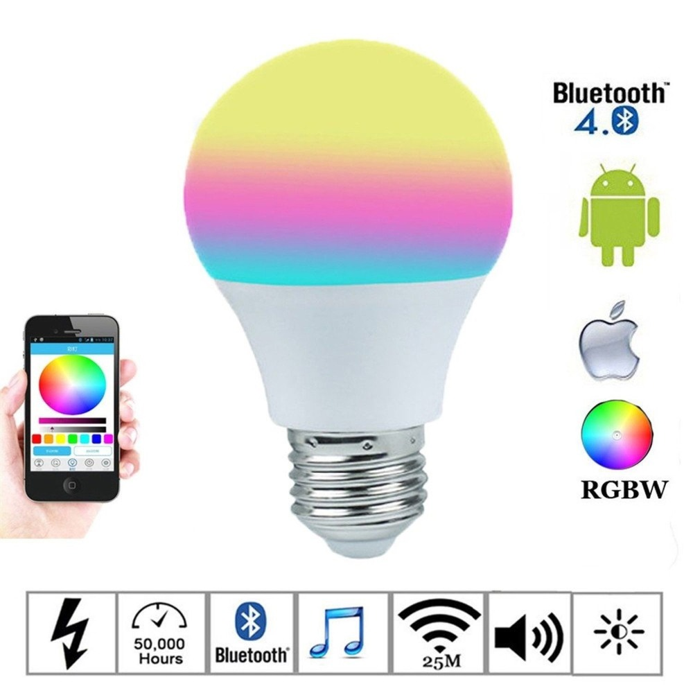 4.5W Magic blue Bluetooth Smartphone control multicolor Dimmable LED Light Bulb for iPhone Apple Watch Android 4.0 and Tablet(China (Mainland))