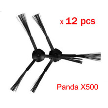 12 pcs(6 set)3-arm side brush Replacement For panda X500 ECOVACS CR120 vacuum cleaner accessories
