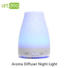 DC24V Aroma Diffuser Night Light Colorful 120mL Dry Protect Ultrasonic Essential Oil Aroma Diffuser Air Humidifier Mist Maker(China (Mainland))