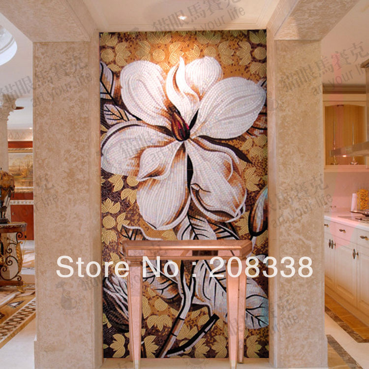 Ss305 coffee flower crystal mosaic cut picture tv background wall tile fashion<br><br>Aliexpress
