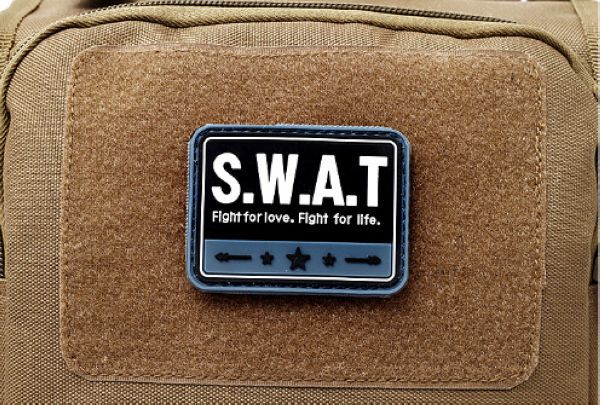 Free Shipping SWAT TEAM Banner 3D PVC Patch Special Weapons And Tactics Armband Rubber Tactical Gear Patch Badge 6.5*5 cm(China (Mainland))