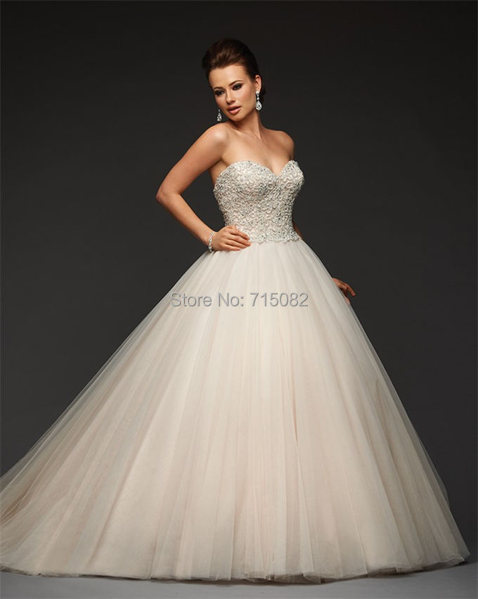 2015 Luxury Perfect Top Quality Lace Applique Princess Wedding Dresses Simple Style