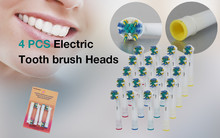 4 PCS Electric Tooth brush Heads Replacement for Braun Oral B FLOSS ACTION NEW Free Shipping