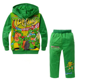 2015 new fashion brand design suits children suit boys and girls suits Teenage Mutant Ninja Turtles free shipping