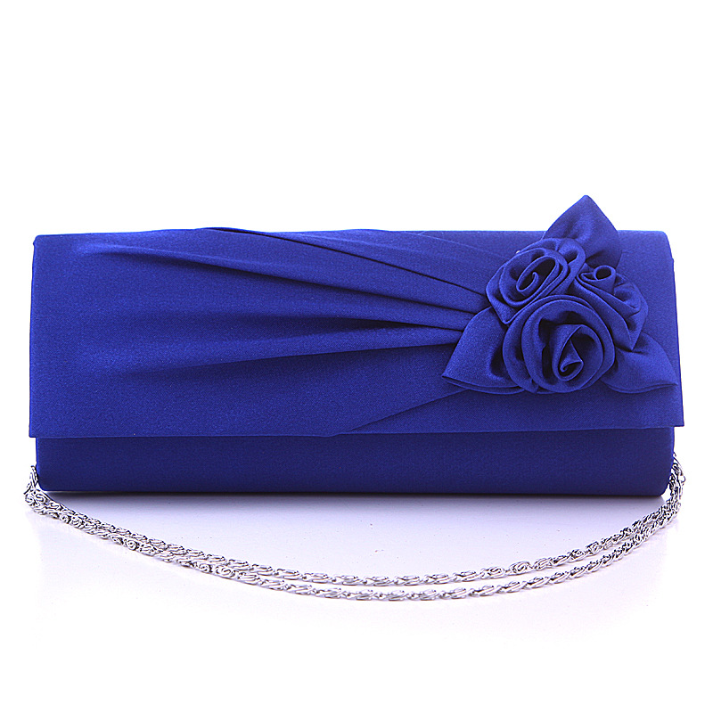 New Designer Brands Bridesmaids Clutch Married Bag Women Evening Bag Flower Rose Chain Day Clutch European And American Bag H287(China (Mainland))