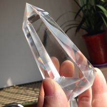 Buy AAA+++ Clear Quartz Crystal TT110, 239g Healing Polished Single Point Natural Crystal Wand Lucky Product Wedding Decoration for $36.00 in AliExpress store